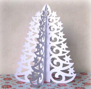 papírový vánoční stromeček