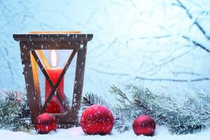 vánoční lucerna ze dřeva
