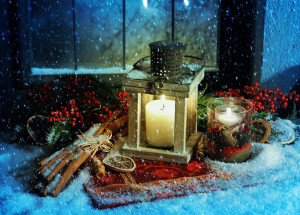 dředvěná vánoční lucerna