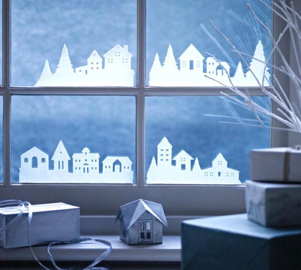 Vánoční vesnnička - papírová