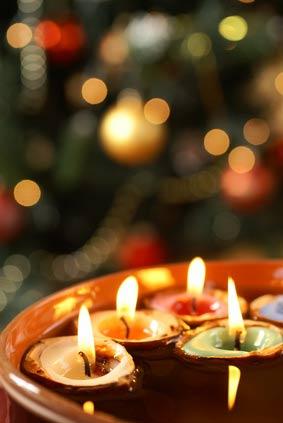 Vánoční svíčky ve skořápce