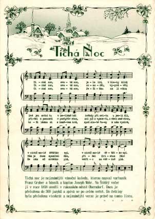 Vánoční koleda Tichá noc