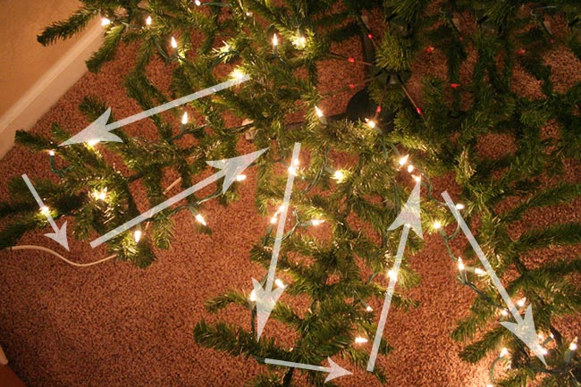 How Do I String Lights On A Christmas Tree : Kolik sv?t?lek na vano?n? stromek? B?le Vanoce