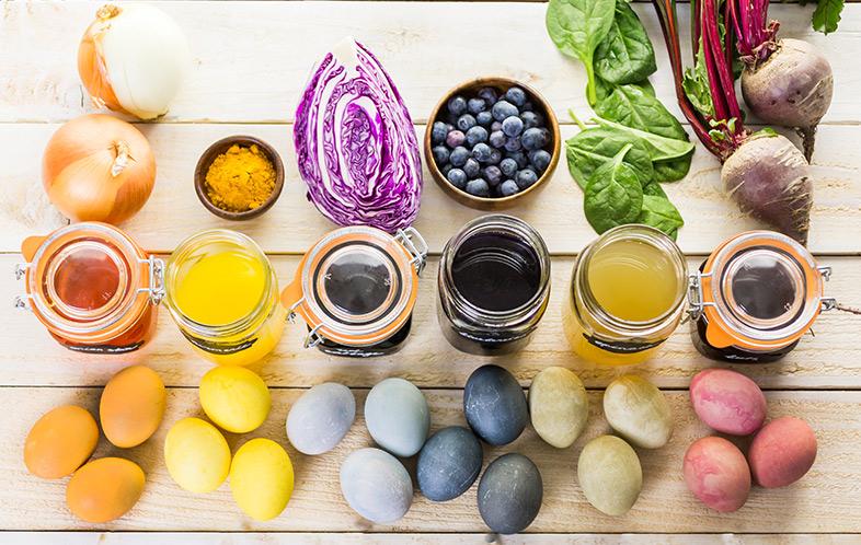 Přírodně barvená velikonoční vejce